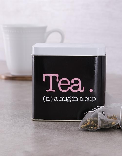 personalised: Personalised Hug Tea Tin!
