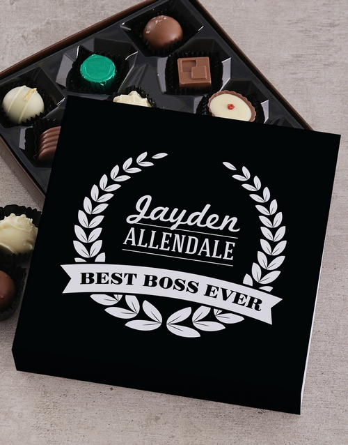 personalised: Personalised Best Boss Choc Tray!