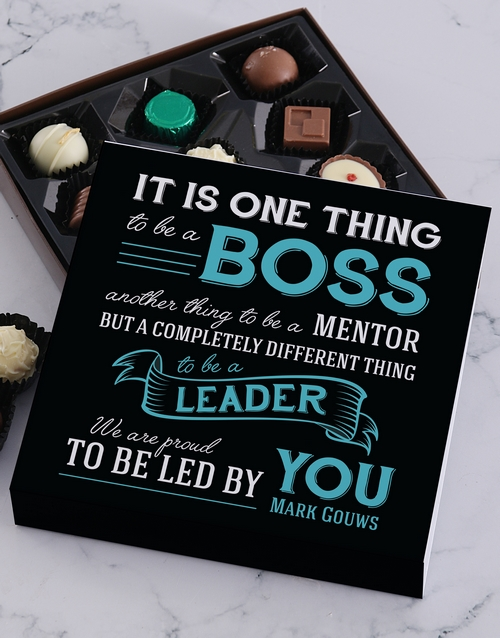 bosses-day: Personalised Led By You Choc Tray!
