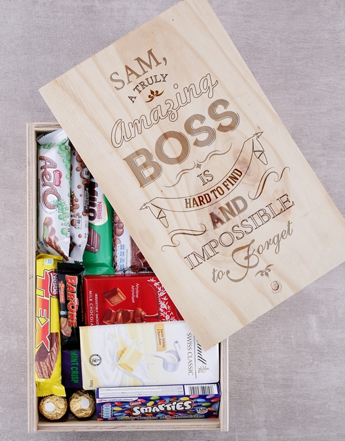 bosses-day: Personalised Amazing Boss Chocolate Crate!
