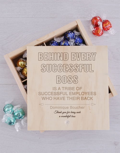 personalised: Personalised Successful Boss Lindt Crate!