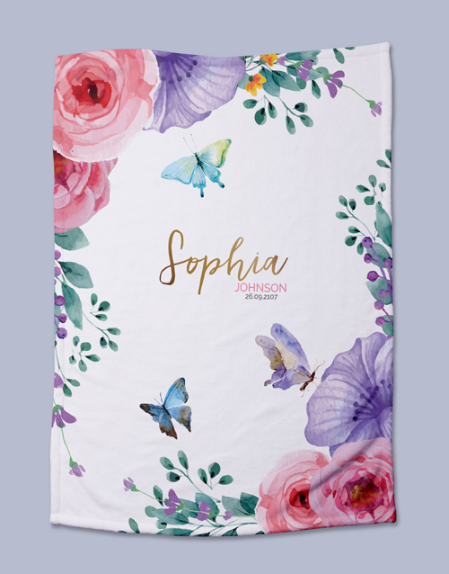 apparel: Personalised Floral Baby Bed Set!