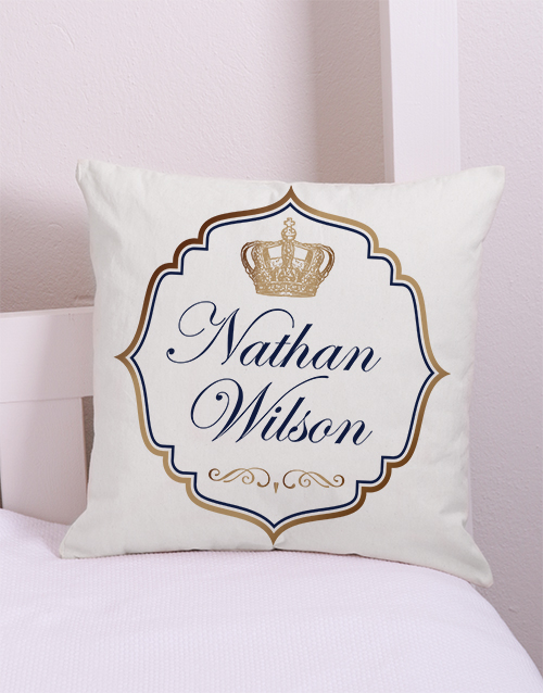 baby: Personalised Prince Scatter Cushion!