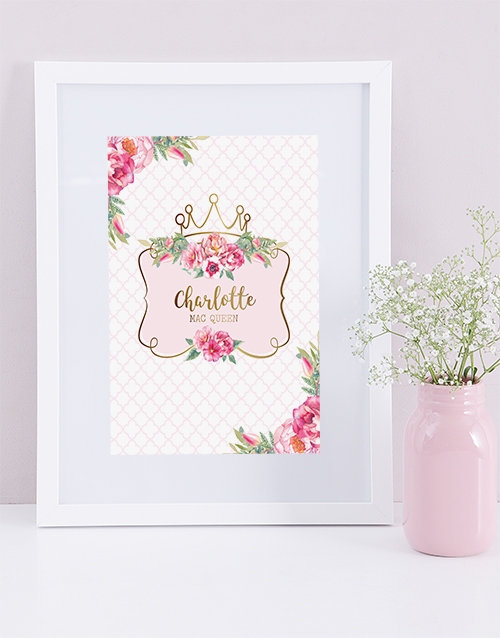 personalised: Personalised Framed Princess Print!