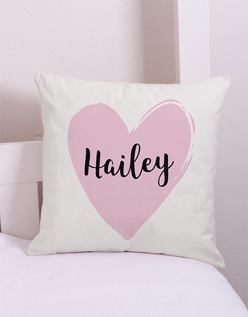 personalised: Personalised  Heart Scatter Cushion!