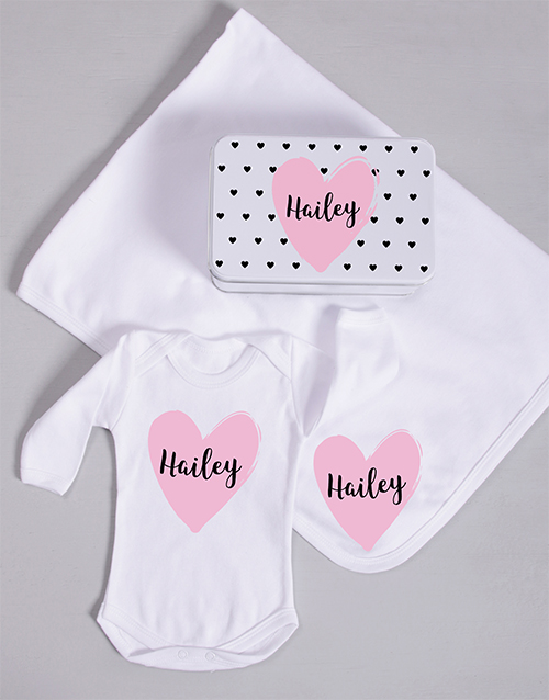 baby: Personalised Heart Spoils Gift!