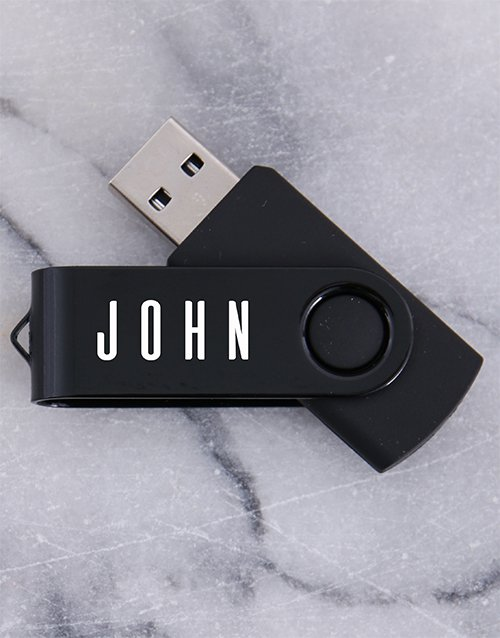 valentines-day: Personalised Black 8G USB !