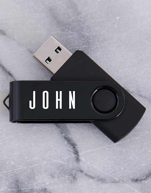fathers-day: Personalised Black 8G USB !