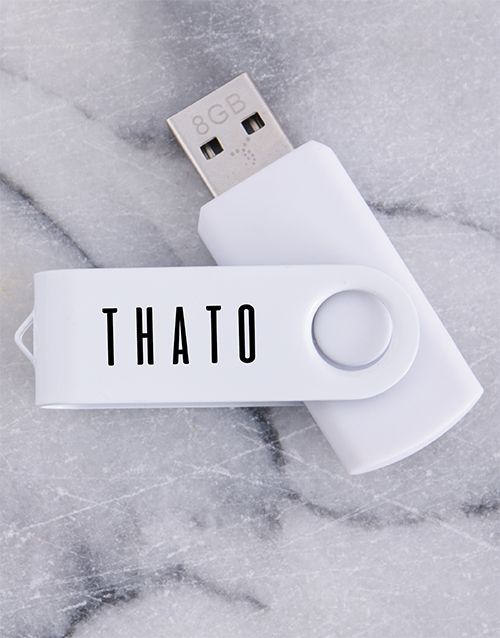 personalised: Personalised White 8G USB !