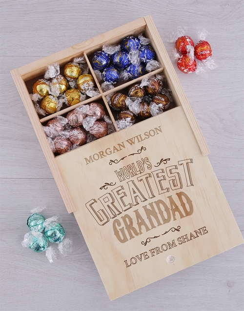 fathers-day: Personalised Greatest Grandad Lindt Tray!