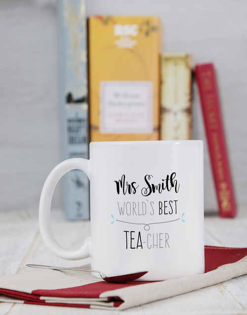 teachers-day: Personalised Best Teacher Mug!