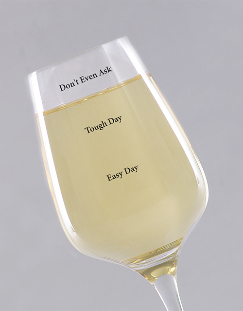 homeware: Personalised Day Levels Wine Glass!