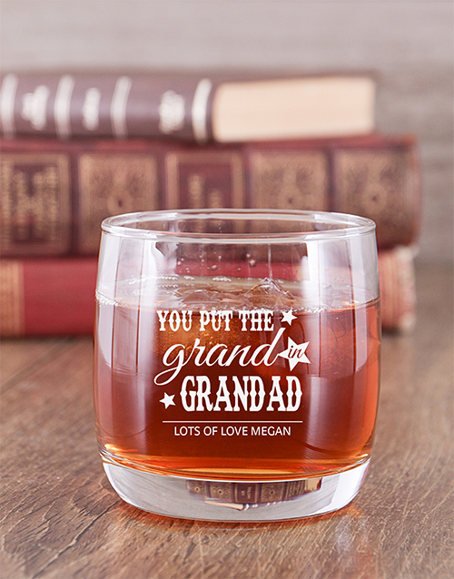 grandparents-day: Personalised Grand Grandad Whiskey Glass!