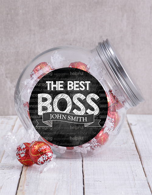 candy-jars: Personalised The Best Boss Candy Jar!