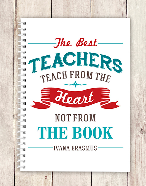 personalised: Personalised Teach From Heart Notebook!