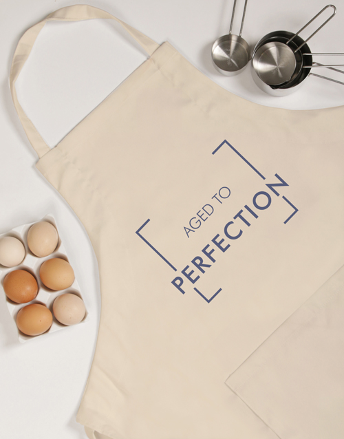 personalised: Personalised Aged To Perfection Apron!