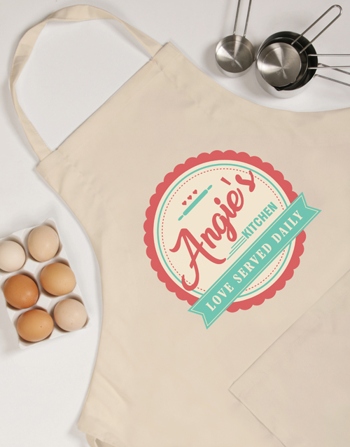 personalised: Personalised Love Served Apron!