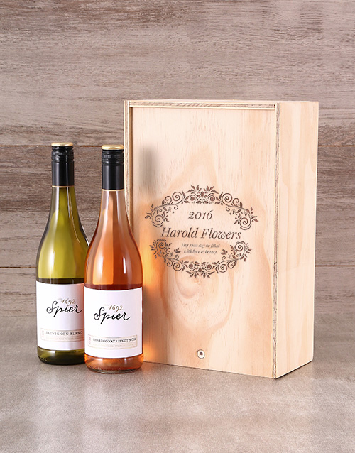 new-years: Floral Personalised Crate!