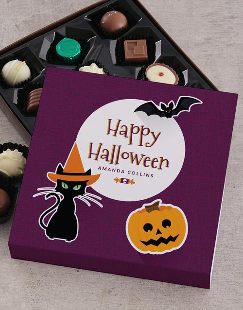 halloween: Personalised Happy Halloween Choc Tray!