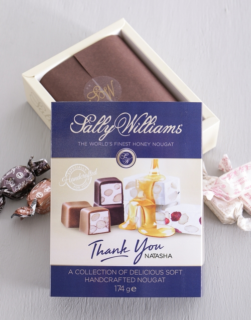 personalised: Personalised Sally Williams Nougat Thank You Box!