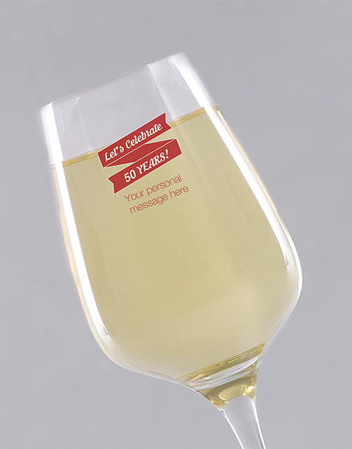 gifts: Personalised Birthday Lets Celebrate Wine Glass!