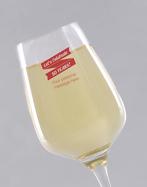 personalised: Personalised Birthday Lets Celebrate Wine Glass!