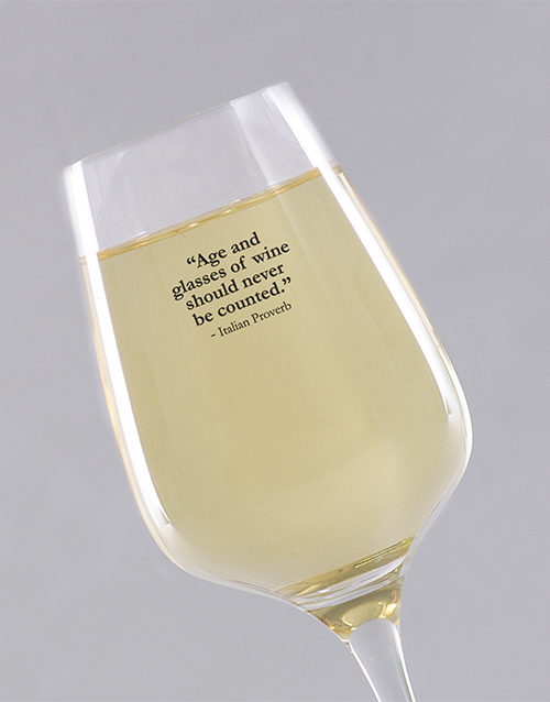 personalised: Personalised Well Aged Wine Glass!