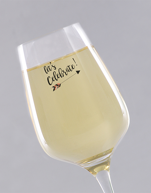 personalised: Personalised Congratulations Wine Glass!
