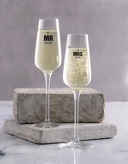 homeware: Wedding Champagne Glass Set!