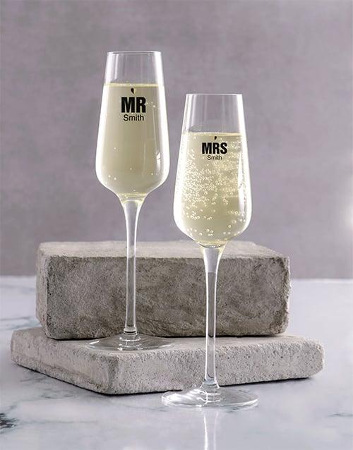personalised: Wedding Champagne Glass Set!