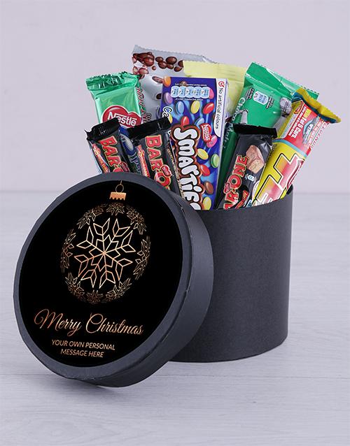 christmas: Personalised Christmas Ornament Chocolate Hat Box!
