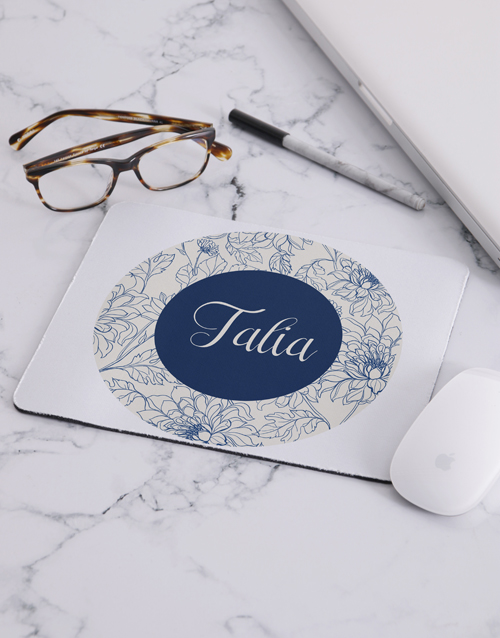 personalised: Personalised Floral Mouse Pad!