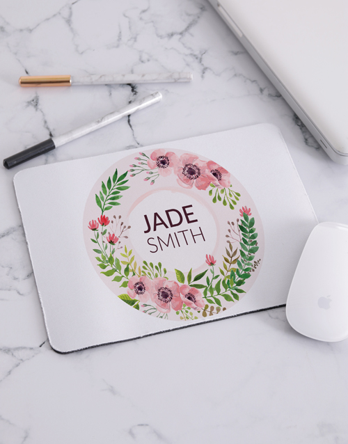 mothers-day: Personalised Floral Wonder Mouse Pad!