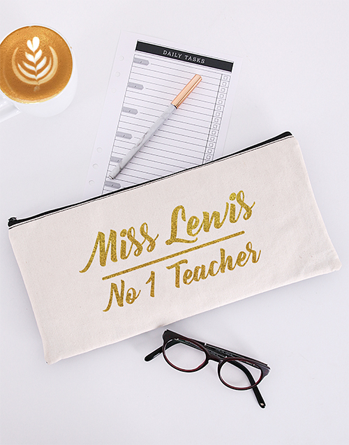 christmas: Personalised No One Teacher Pencil Bag!