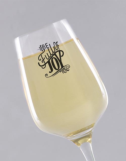 homeware: Personalised Full of Joy Wine Glass!