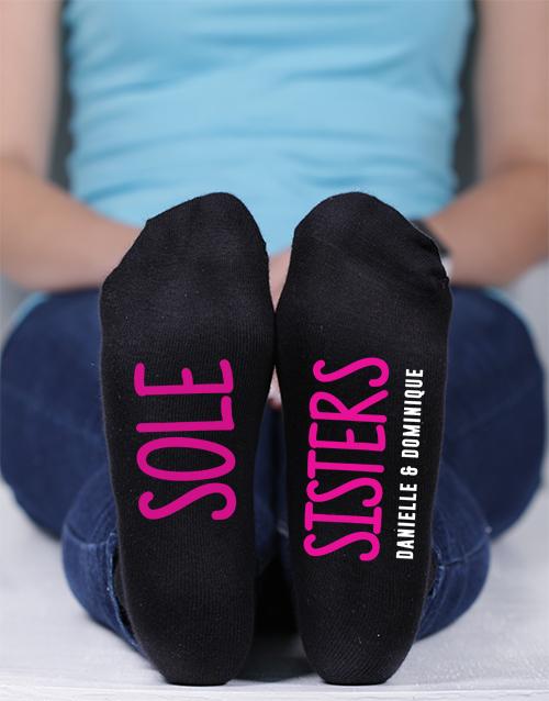 apparel: Personalised Sole Sisters Socks!
