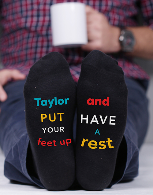 apparel: Personalised Put Your Feet Up Socks!