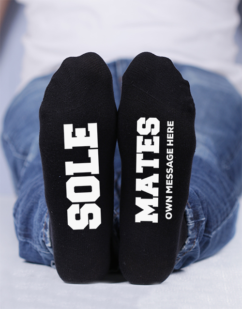apparel: Personalised Sole Mates Socks!