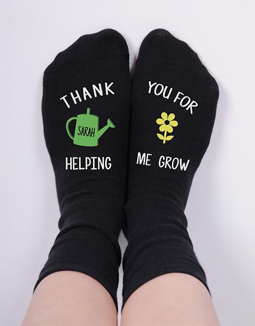 personalised: Personalised Helping Me Grow Socks!