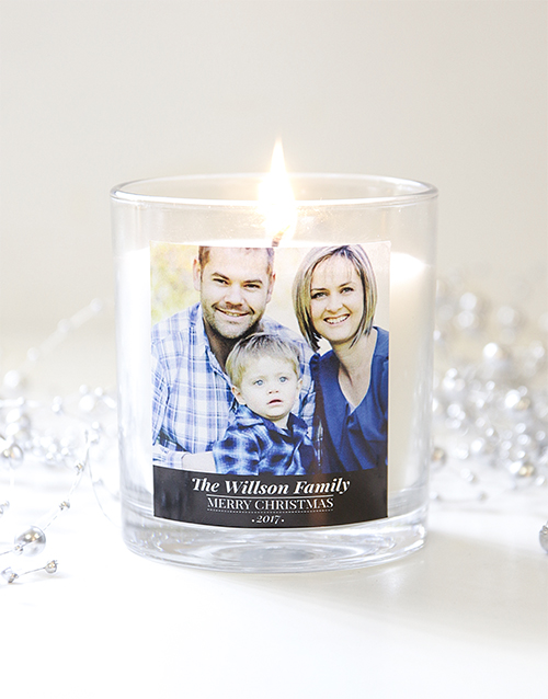 personalised: Personalised Christmas Photo Candle!