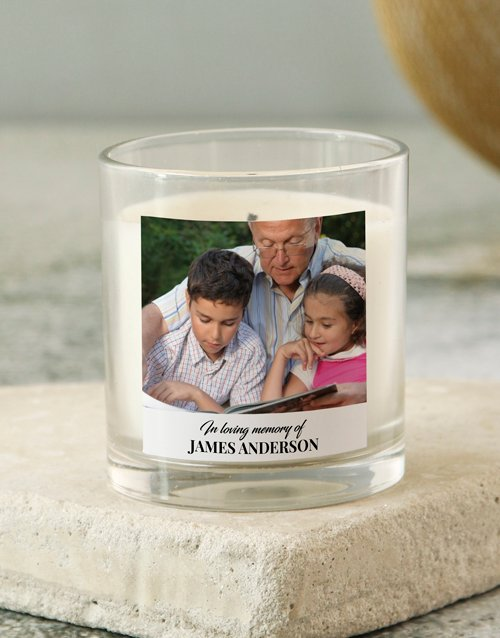 bath-and-body: Personalised In Loving Memory Photo Candle!