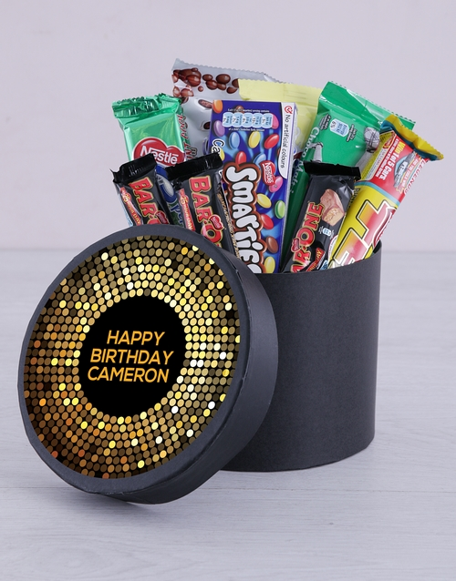 personalised: Personalised Golden Birthday Hat Box!