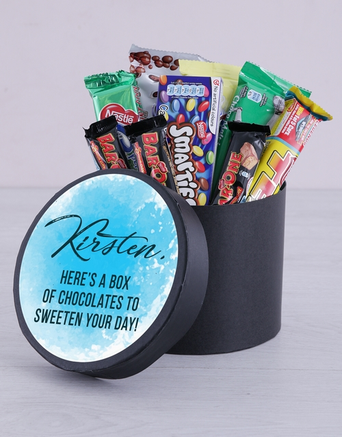 friendship: Personalised Sweeten Your Day Hat Box!