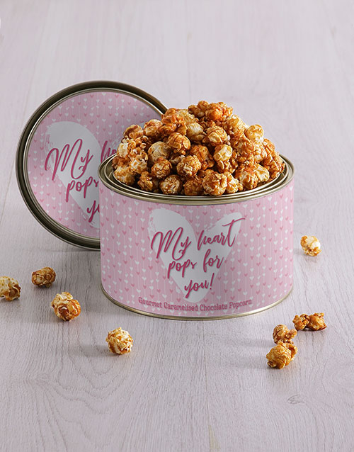 personalised: Personalised My Heart Popcorn Tin!