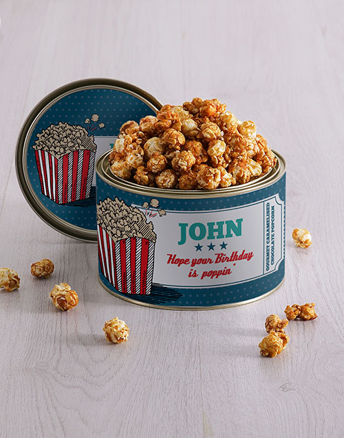 personalised: Personalised Popcorn Tin!