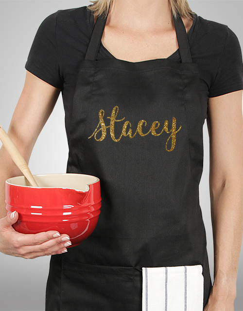 personalised: Personalised Glitter Name Apron!