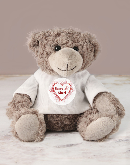 teddy-bears: Personalised I Love You Jersey Teddy!
