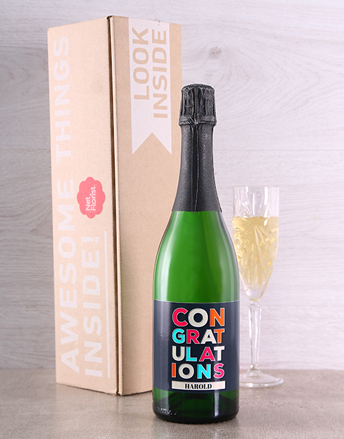 new-years: Congratulations Personalised Bubbly!