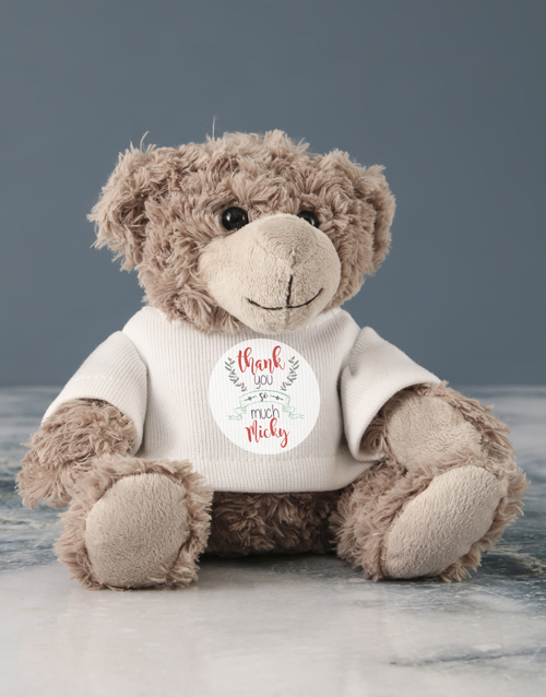 teddy-bears: Personalised Thank You Jersey Teddy!