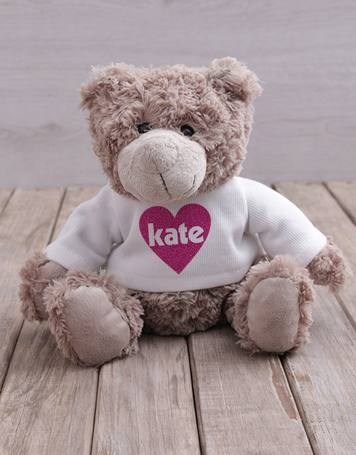 mothers-day: Personalised Heart Jersey Teddy!